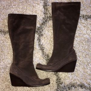 Chocolate Brown Suede Boots